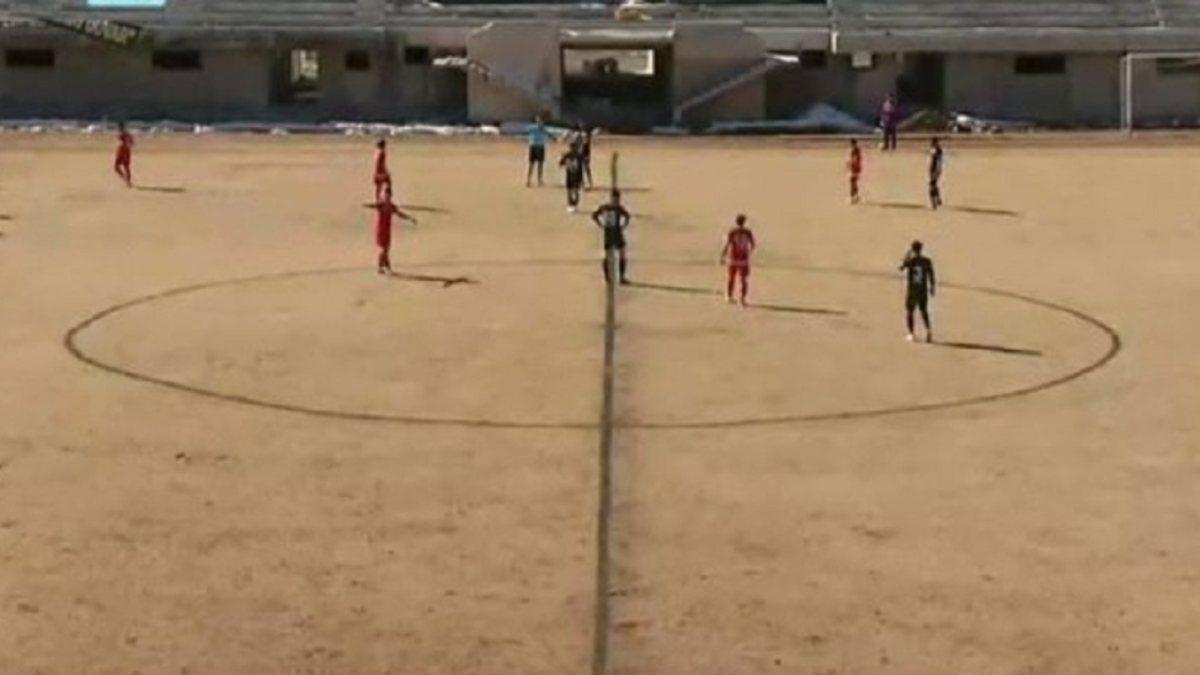 Bayburt'un stadının zemini futbolseverleri şaşırttı