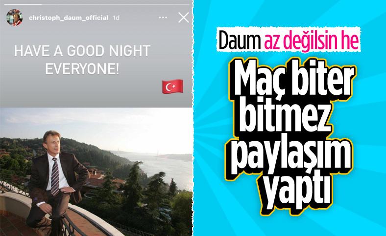 Fenerbahçe maçı sonrası Daum'dan paylaşım