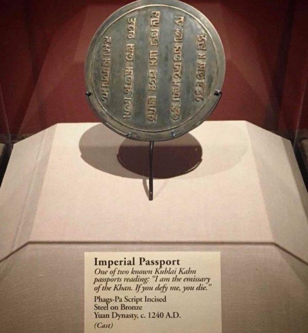Tarihteki ilk pasaportlar #2